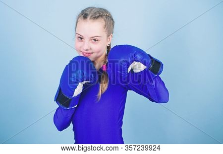 Female Boxer Change Attitudes Within Sport. Feminism Concept. With Great Power Comes Great Responsib