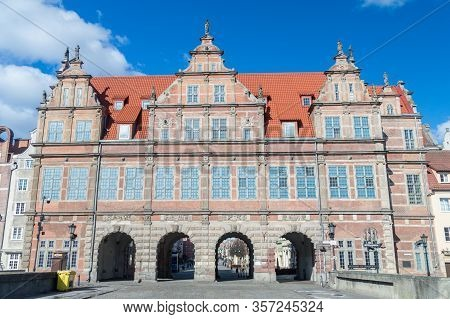 Gdansk, Poland - March 22, 2020: Zielona Brama (green Gate). Empty City During The Covid-19 Epidemic