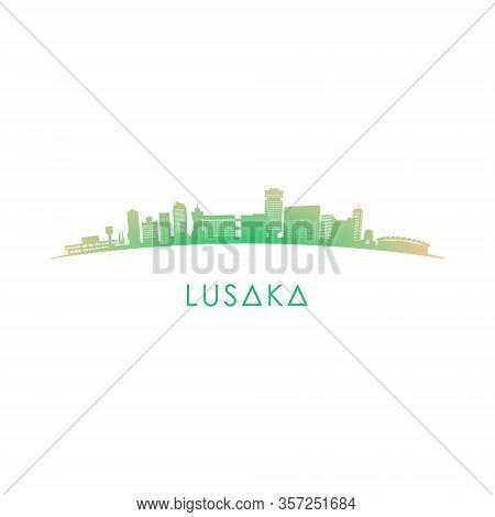 Lusaka Skyline Silhouette. Vector Design Colorful Illustration.
