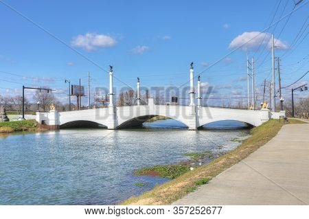Augusta, Georgia/united States- January 7: The Historic Butt Memorial Bridge In Augusta, Georgia. Op