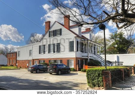 Augusta, Georgia/united States- January 7: The Historic Brahe House In Augusta, Georgia. It Is A His
