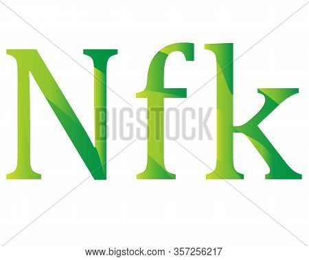 Eritrean Nakfa Currency Symbol Icon Of Eritrea Vector Illustration On A White Background
