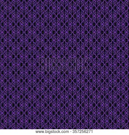 Black Decorative Openwork Pattern On A Purple Background