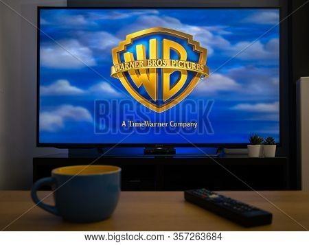 Uk, March 2020: Tv Television Warner Bros Brothers Studios Film Opener