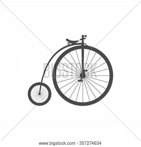 Penny Farthing Bike Simple Icon Isolated On White Background.