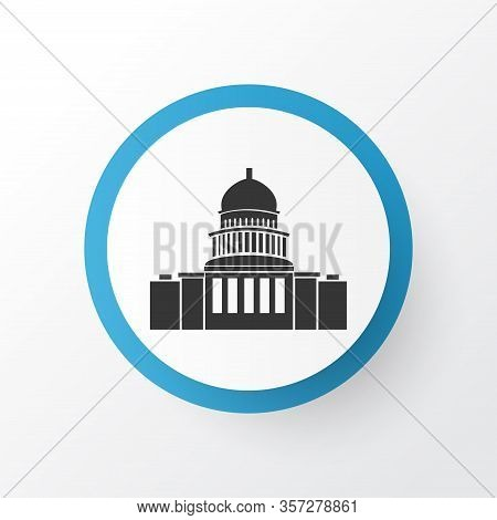 Capitol Hill Icon Symbol. Premium Quality Isolated Congress Element In Trendy Style.