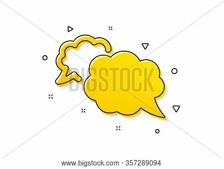 Comic Speech Bubble Sign. Messenger Icon. Chat Message Symbol. Yellow Circles Pattern. Classic Messe