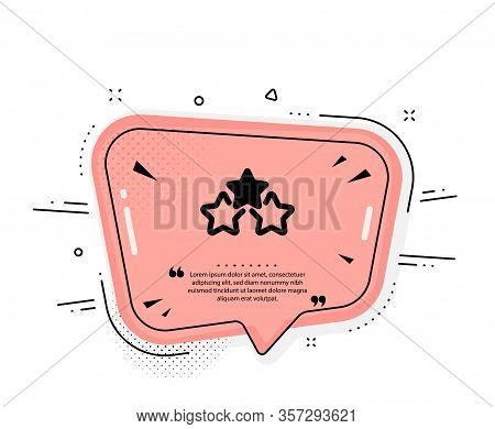 Ranking Stars Icon. Quote Speech Bubble. Star Rating Sign. Best Rank Symbol. Quotation Marks. Classi