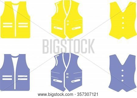 Waistcoat Icon Isolated On Background Wedding, Work Wear, Worker