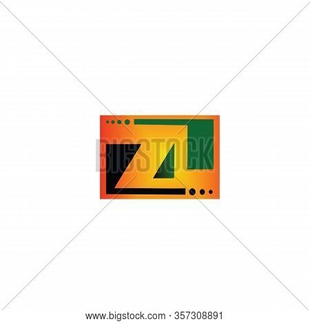 Zl Z L Green Yellow Black With Dots In The Upper Corner Under The Swoosh Technology Alphabet Company