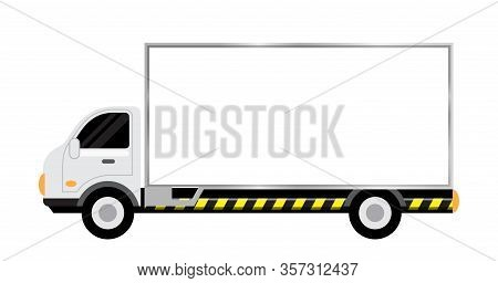Car Truck With Billboards White For Copy Space, Large Billboard Sign On Side Truck, Mobile Truck For