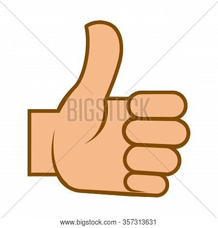 Like Or Thumb Up Symbol, Human Hand, Isolated Icon