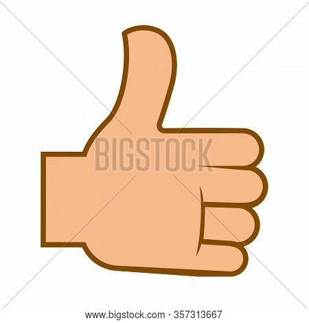 Like Or Thumb Up, Internet Approval Sign Or Emoji