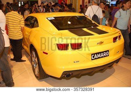 Pasay, Ph - Apr. 1: Chevrolet Camaro At 8th Manila International Auto Show On April 1, 2012 In World
