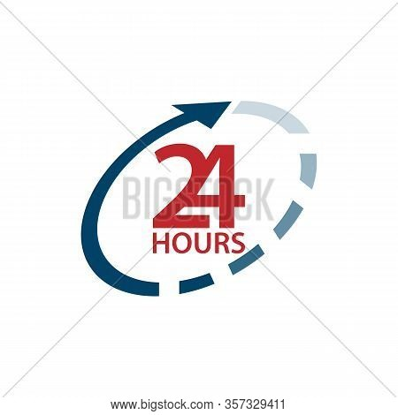 The 24 Hours Icon Design Image