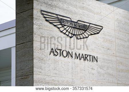 Bordeaux , Aquitaine / France - 09 24 2019 : Aston Martin Car Sign Dealership