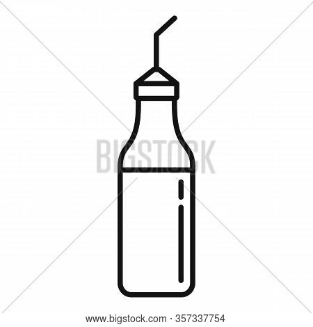 Aromatic Mustard Bottle Icon. Outline Aromatic Mustard Bottle Vector Icon For Web Design Isolated On