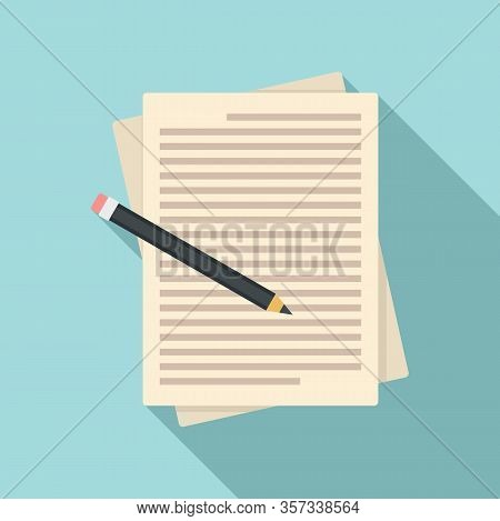 Paper Editor Icon. Flat Illustration Of Paper Editor Vector Icon For Web Design