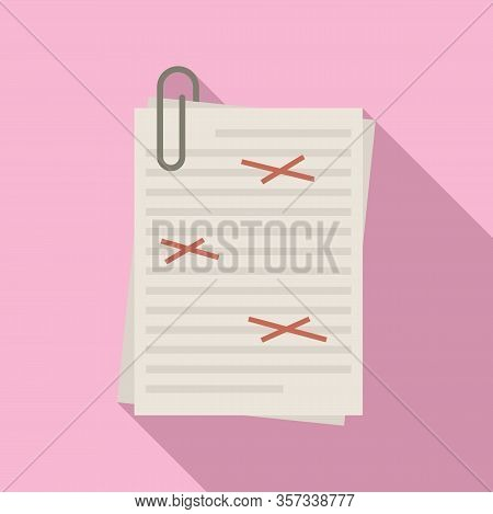 Copy Editor Icon. Flat Illustration Of Copy Editor Vector Icon For Web Design