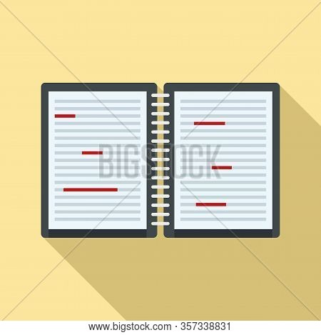 Writer Editor Icon. Flat Illustration Of Writer Editor Vector Icon For Web Design
