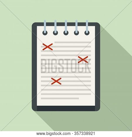 Review Editor Icon. Flat Illustration Of Review Editor Vector Icon For Web Design