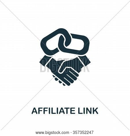 Affiliate Link Icon From Affiliate Marketing Collection. Simple Line Affiliate Link Icon For Templat