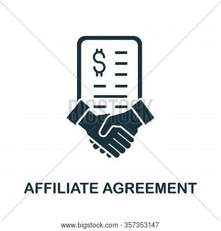 Affiliate Agreement Icon From Affiliate Marketing Collection. Simple Line Affiliate Agreement Icon F