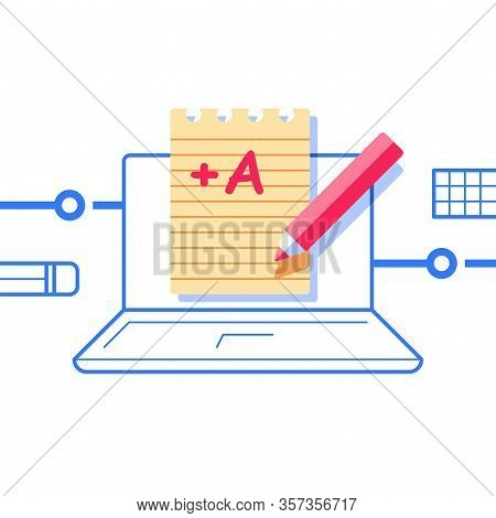 High Test Score, Excellent Result, A Plus Mark, Pass Examination, Well Done Assignment, Internet Edu
