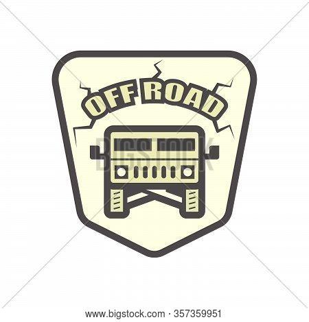 Off Road Suv Vehicle Vector Icon Design Element.