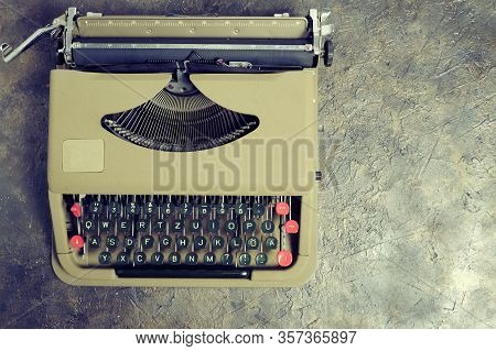 Old Vintage Typewriter .the View From The Top