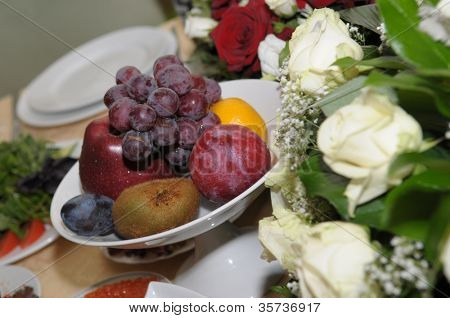 rose and fruit