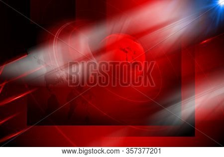 Graphical Modern Studio News Background, Suitable For Global Business News. Multiple Round Circle Ar