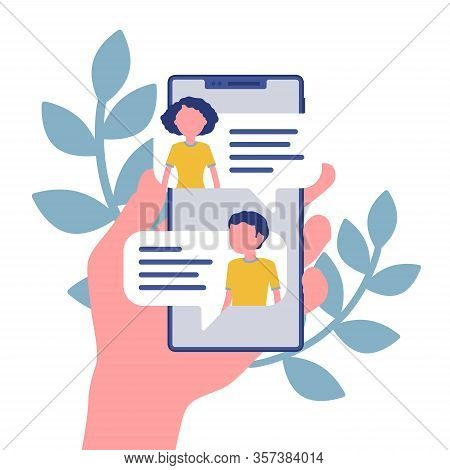 Mobile Chat, Smartphone Application For Chat Communication. Live Talk For Helping Customers, Friendl