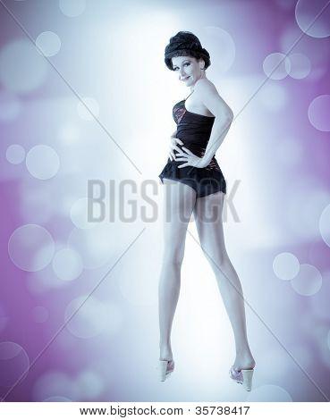 beautiful sexual woman. dance style