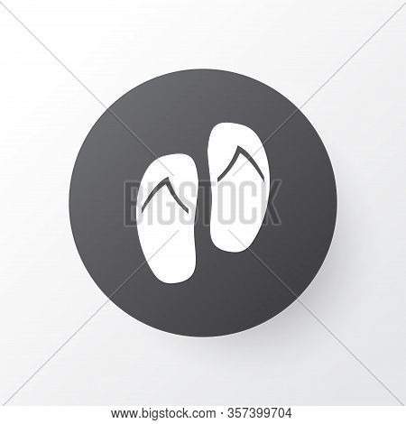 Flip Flop Icon Symbol. Premium Quality Isolated Beach Sandals Element In Trendy Style.