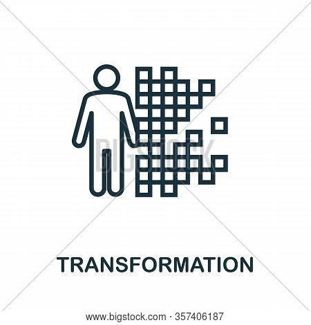 Transformation Icon. Simple Line Element From Biotechnology Icons Collection. Outline Transformation