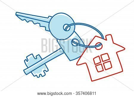 Keys To The House With A Keychain House