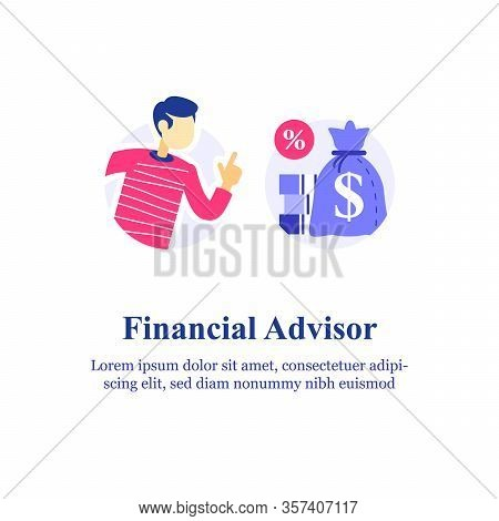 Financial Advisory, Investment Advice, Consulting Expert, Stock Market Investor Strategy, Budget Pla