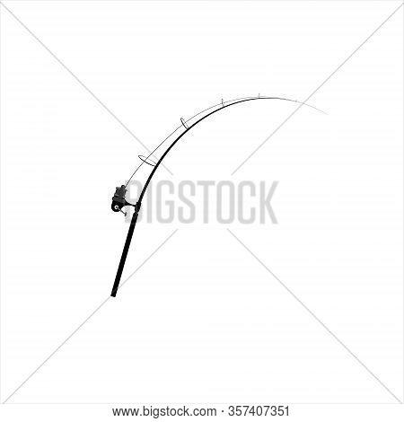 Carp Fishing. Vector Images Of Fishing Rod On White Background