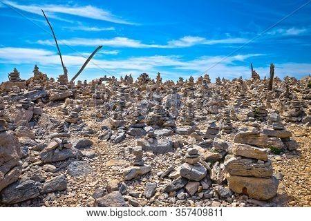 Telascica Bay On Dugi Otok Island Stone Desert Amazing Landscape View, Archipelago Of Kornati, Dalma