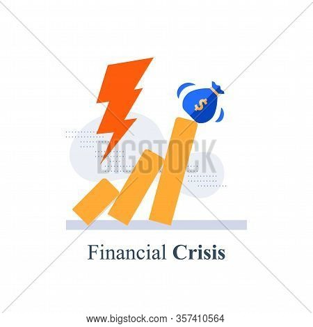 Financial Crisis, Unexpected Stock Market Drop, Money Loss, Capital Devaluation, Risky Investment St