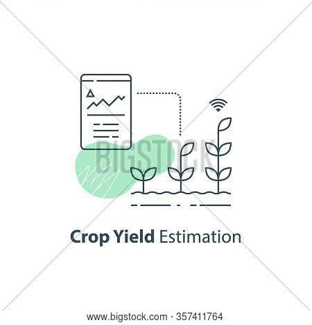 Crop Data Report, Soil Condition Control, Yield Estimation Chart, Smart Automation, Modern Agricultu