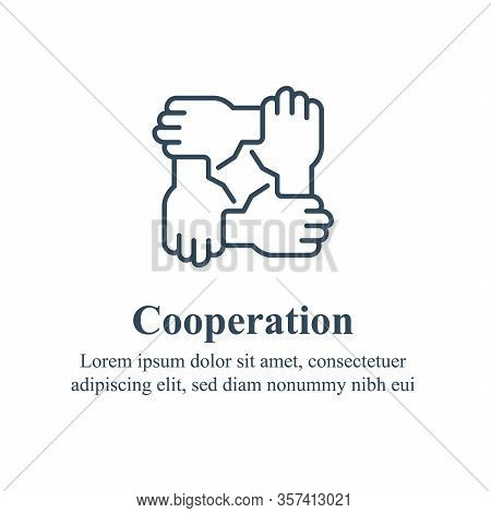 Team Work, Cooperation Or Collaboration, Unity Or Trust, Partnership Concept, Employee Engagement, H