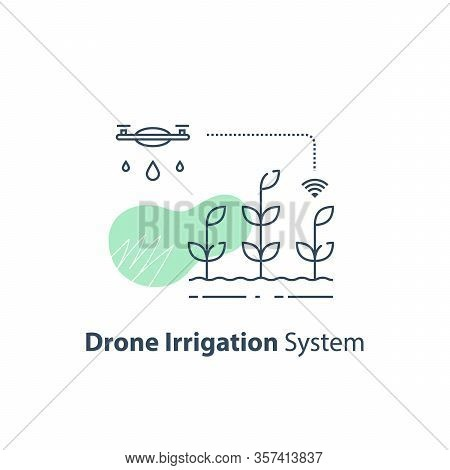 Drone Irrigation Management, Crop Monitoring, Smart Automation System, Modern Agriculture Technology