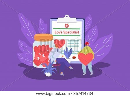 Love Specialist, Marriage Counselling Psychotherapy Session With Tiny People Sexologist Office, Hear