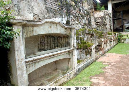 Skeletons In The Cemetery Of Santo Domingo Church