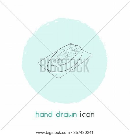Turkish Pide Icon Line Element. Vector Illustration Of Turkish Pide Icon Line Isolated On Clean Back