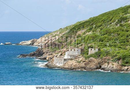 The Historic District Ruins On Hassel Island Near St. Thomas Island (u.s. Virgin Islands).