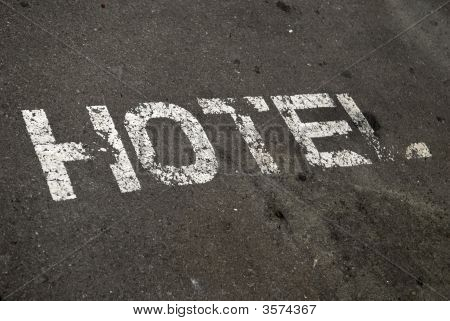 Hotel Sign On Street