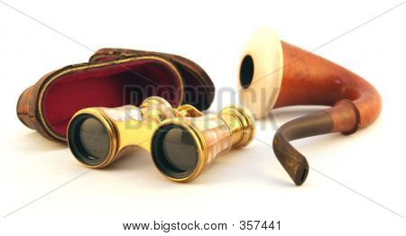 Vintage Pipe And Viewing Goggles